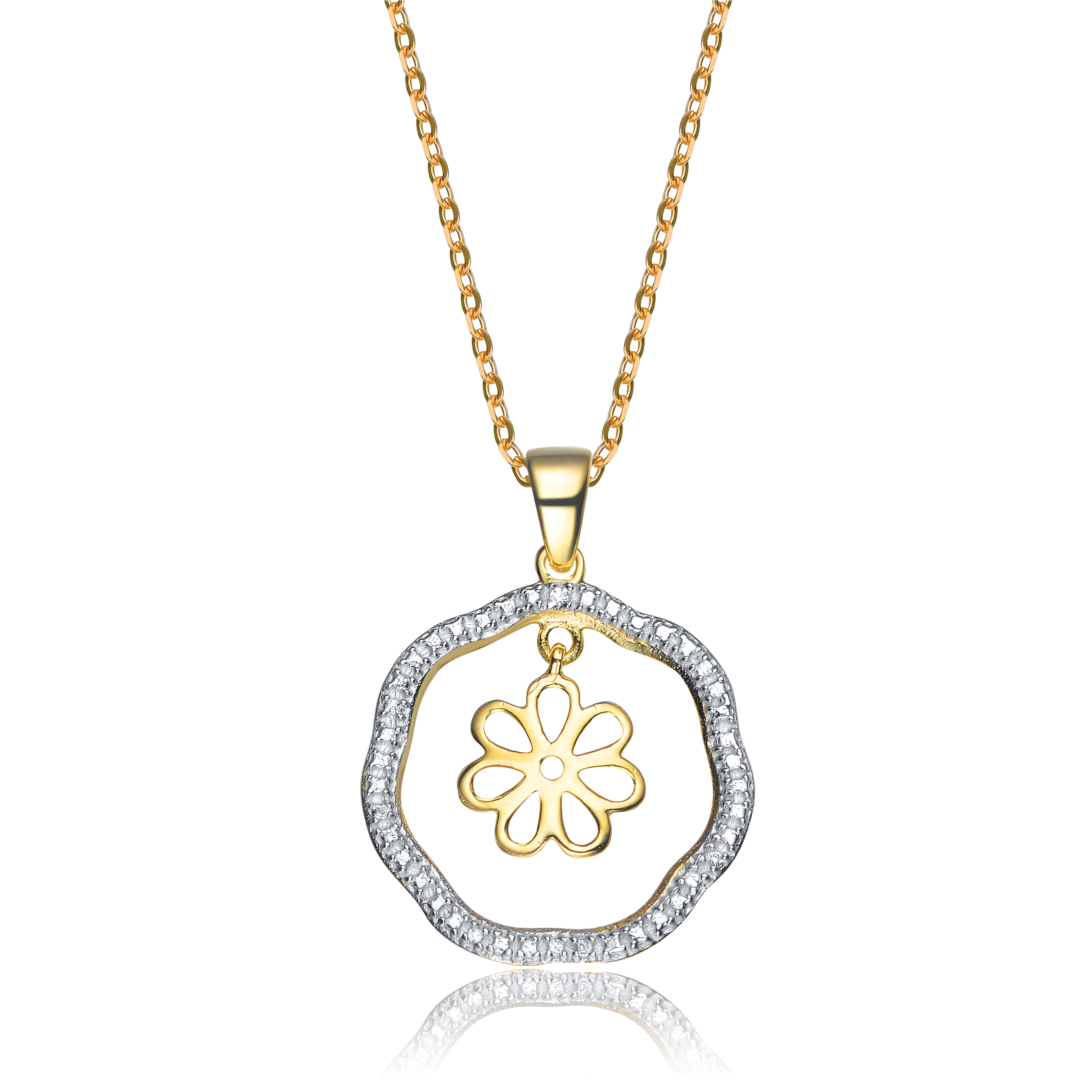 diamond round jewelry caresse cartier necklace white watches orchid dorchid gold pendant and d free onyx overstock es today product shipping